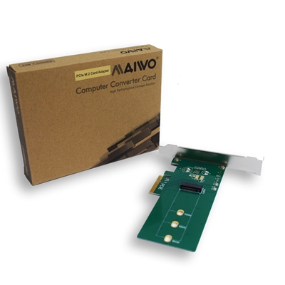 MAIWO M.2 PCIe Card Including full profile bracket.