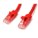 StarTech.com Cat6 patch cable with snagless RJ45 connectors – 50 ft, red