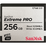 Sandisk Extreme Pro memory card 256 GB CFast 2.0