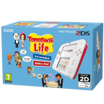 "Nintendo 2DS WHITE/RED + TOMODACHI 3.02"" 1GB Touchscreen Wi-Fi Red, White portable game console"