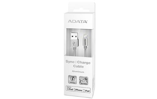 ADATA 1m, USB 2.0-A/Lightning Silver
