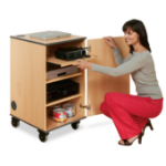 Metroplan MM80 multimedia cart/stand Natural wood