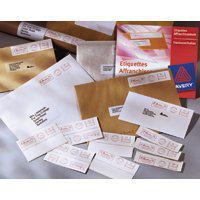 Avery FL01 addressing label White