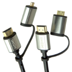 Laser CB-HDMI2X2-4K HDMI cable 1.8 m HDMI Type A (Standard) Black
