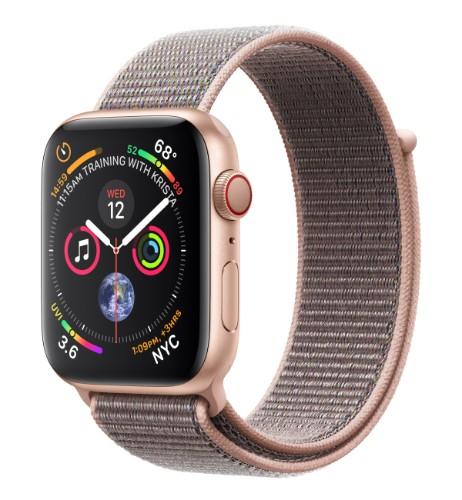 Apple Watch Series 4 smartwatch Gold OLED Cellular GPS (satellite)