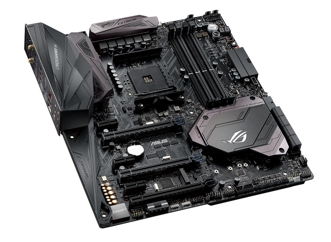 ASUS ROG CROSSHAIR VI EXTREME AMD X370 Socket AM4 Extended ATX motherboard
