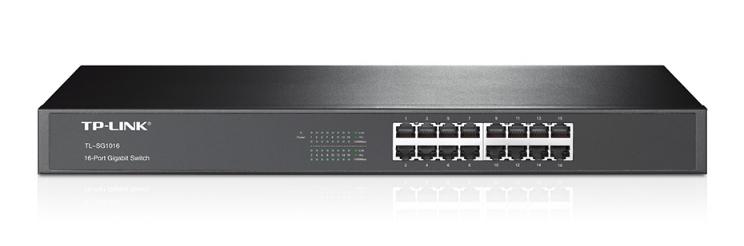 TP-LINK 16-Port Gigabit Switch Unmanaged Zwart