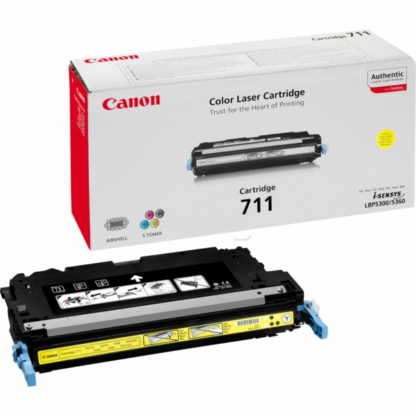 Canon 1657B002 (711Y) Toner yellow, 6K pages