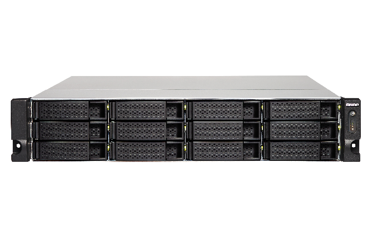 QNAP TS-1263U-RP NAS Rack (2U) Ethernet LAN Black,Metallic