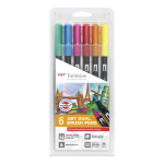 Tombow ABT Dual Brush Pen 2 tips Dermatlogical PK6