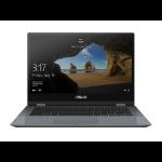 "ASUS VivoBook Flip TP412FA-XB55T notebook DDR4-SDRAM Hybrid (2-in-1) 14"" 1920 x 1080 pixels Touchscreen 8th gen Intel® Core™ i5 8 GB 512 GB SSD Wi-Fi 5 (802.11ac) Windows 10 Home Gray"