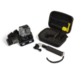 KitVision Action Camera Travel Case, Chest Mount, and Small Extension Pole Box case Black