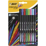 BIC Intensity Fine felt pen Black,Blue,Green,Light Blue,Light Green,Pink,Purple,Red 8 pc(s)