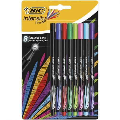 BIC Intensity Fine felt pen Black, Blue, Green, Light Blue, Light Green, Pink, Purple, Red 8 pc(s)