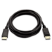 V7 DisplayPort a DisplayPort de 3 metros color negro