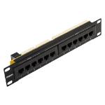 Cablenet 1u 10inch 4 x Voice + 8 x Cat6 Patch Panel