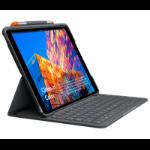 Logitech Slim Folio mobile device keyboard AZERTY Französisch Graphit Bluetooth