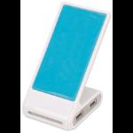 Manhattan Phone Stand with USB 4-Port Hub, 4x USB-A Ports, 480 Mbps (USB 2.0), Bus Power, Non Slip, White/Blue