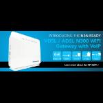 NETCOMM NF10WV N300 WiFi VDSL/ADSL Modem Router with VOIP Gigabit WAN, 4 x LAN, 2 x FXS, 2 x USB Storage