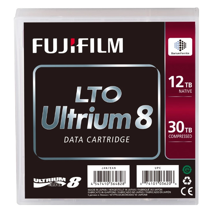 FUJIFILM CARTRIDGE FUJI LTO8 ULTRIUM 12TB/30TB