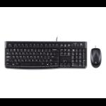 Logitech Desktop MK120 keyboard USB QWERTZ German Black