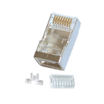 Lindy RJ-45 Connector, 10pk wire connector RJ-45 8-pin cat.6 Grey