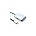 Unirise USBC-2IN1-VH Black, Silver USB graphics adapter