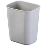 JASTEK PLASTIC WASTE BIN 26.5 LITRE RECTANGULAR GREY