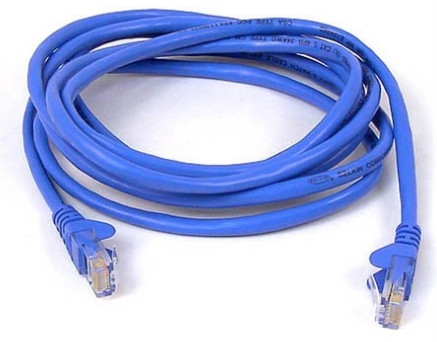 Belkin RJ45 CAT-5e Patch Cable, 3m 3m Blue networking cable