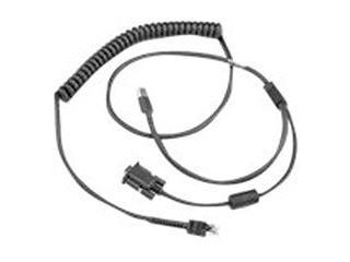 Zebra CBA-UF4-C09ZAR serial cable Black