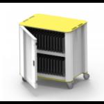 NUWCO PlasCart Portable device management cart Grey, Yellow