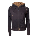 ASSASSIN'S CREED Syndicate Adult Female Bronze Brotherhood Crest Full Length Zipper Hoodie, Extra Large, Black/Bronze
