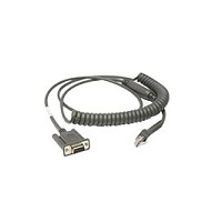 Zebra CBA-R46-C09ZBR serial cable Black 2.8 m RS232 DB9