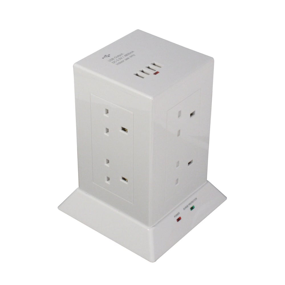 Lindy 73060 power extension 1.5 m 8 AC outlet(s) Indoor White