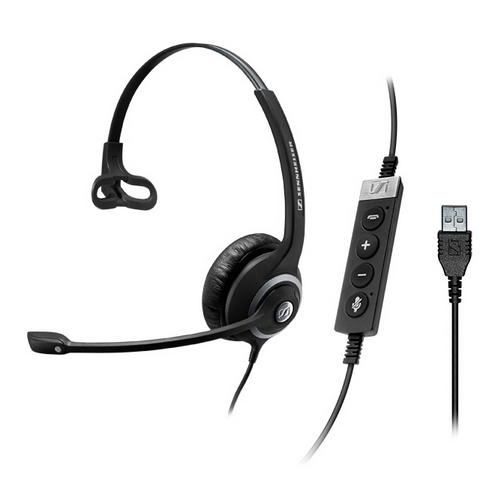 Sennheiser SC 230 USB CTRL II Monaural Head-band Black headset