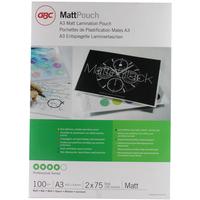 GBC Matt Laminating Pouches A3 2x75 Micron (100)