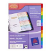 Avery ReadyIndex Dividers divider Multicolor