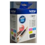 Brother LC-3317 Colour Value Pack - 1 x Cyan 1 x Magenta 1 x Yellow Toner Cartridge
