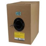 StarTech.com Rollo Bobina de 304,8m de Cable de Red Sólido Bulk a Granel UTP Cat5e Negro Certificado CMR (Riser)