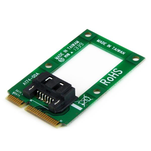 StarTech.com mSATA to SATA HDD / SSD Adapter – Mini SATA to SATA Converter Card