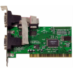 Dynamode Dual Port Serial RS232 Controller Adapter PCI Card, 2-Port (PCI-RS232)