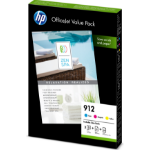 HP 6JR41AE (912) Ink cartridge multi pack, 315 pages, Pack qty 3