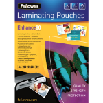 Fellowes 53022 laminator pouch 100, 1