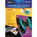 Fellowes 53022 laminator pouch 100, 1