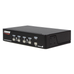 StarTech.com 4 Port StarView DVI USB with Audio KVM switch Black