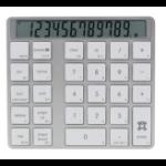 XtremeMac 216081 numeric keypad Bluetooth Universal Silver