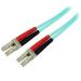 StarTech.com Cable de 2m de Fibra Óptica Dúplex Multimodo OM4 de 100Gb 50/125 LSZH LC a LC - Aguamarina