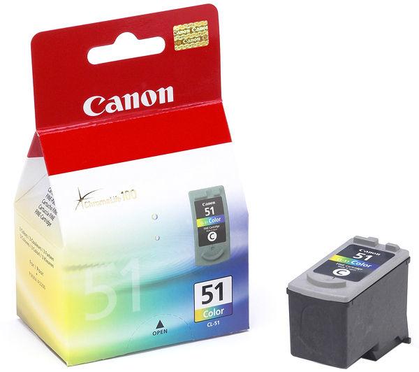 Canon CL-51 Origineel Cyaan, Magenta, Geel 1 stuk(s)