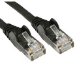 Cables Direct 99TRT-601K networking cable 1 m Cat5e Black