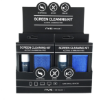 NVS Screen Cleaning Kit Counter Display Bottle of Screen Cleaner (30 ml) and 1 x Microfibre Cloth (15cm x 18m)